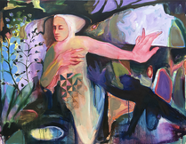 "Noli Me Tangere  oil on canvas 48"" x 60"" 2018"