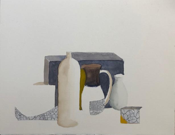 Still Life Vignette, Homage to Morandi