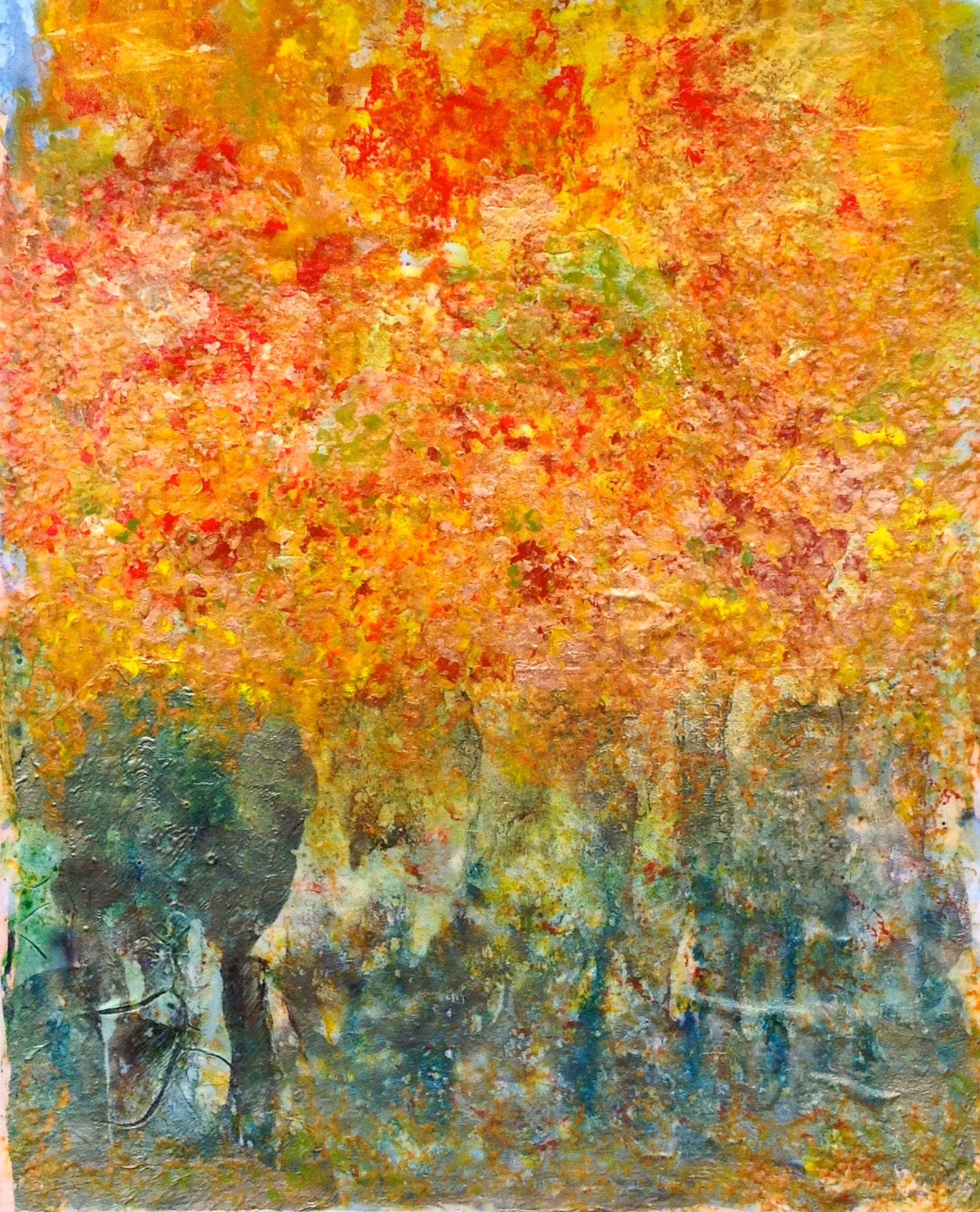 Fall in the Vienna Woods I, Homage to Klimt