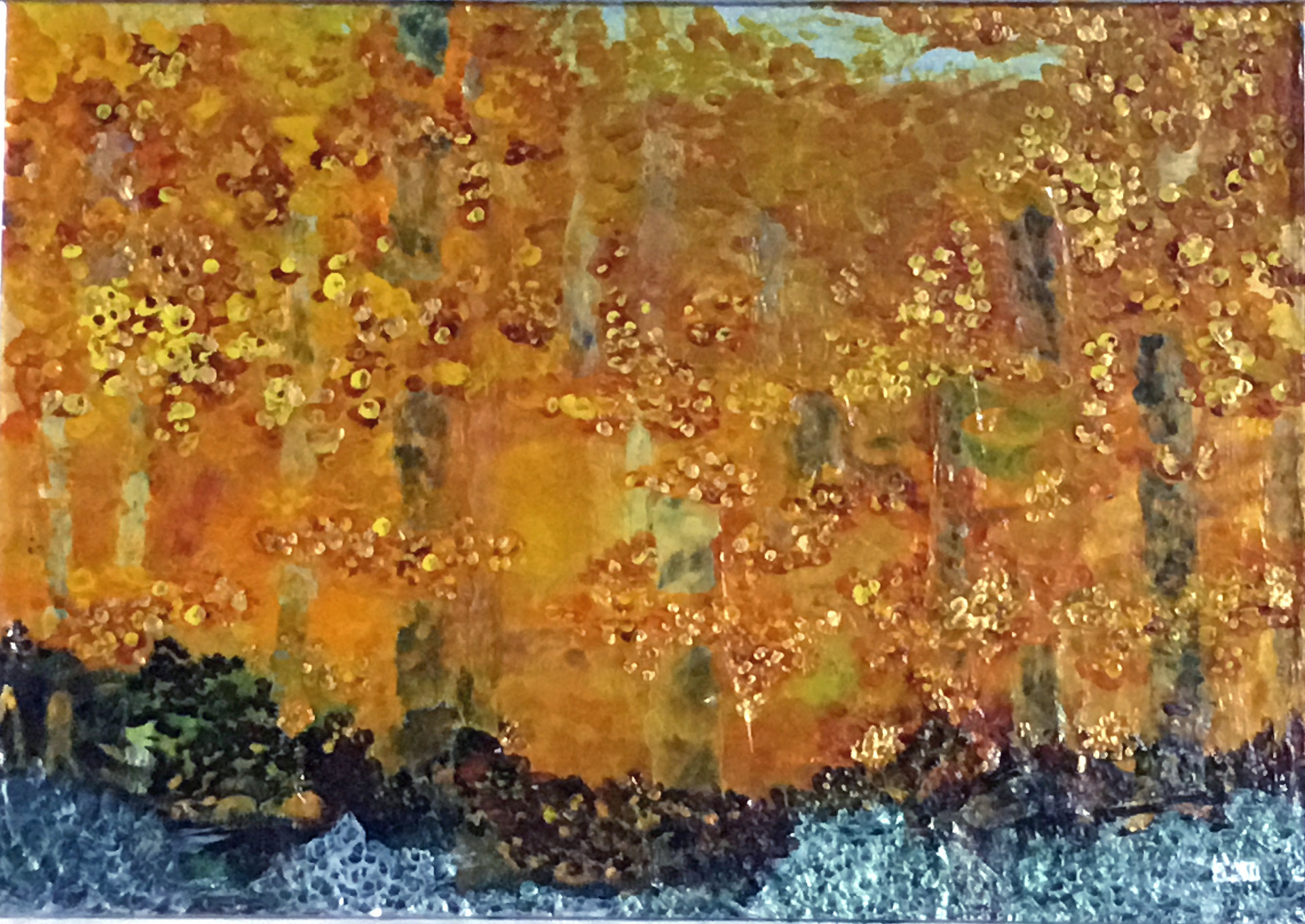 Fall in the Vienna Woods II, Homage to Klimt