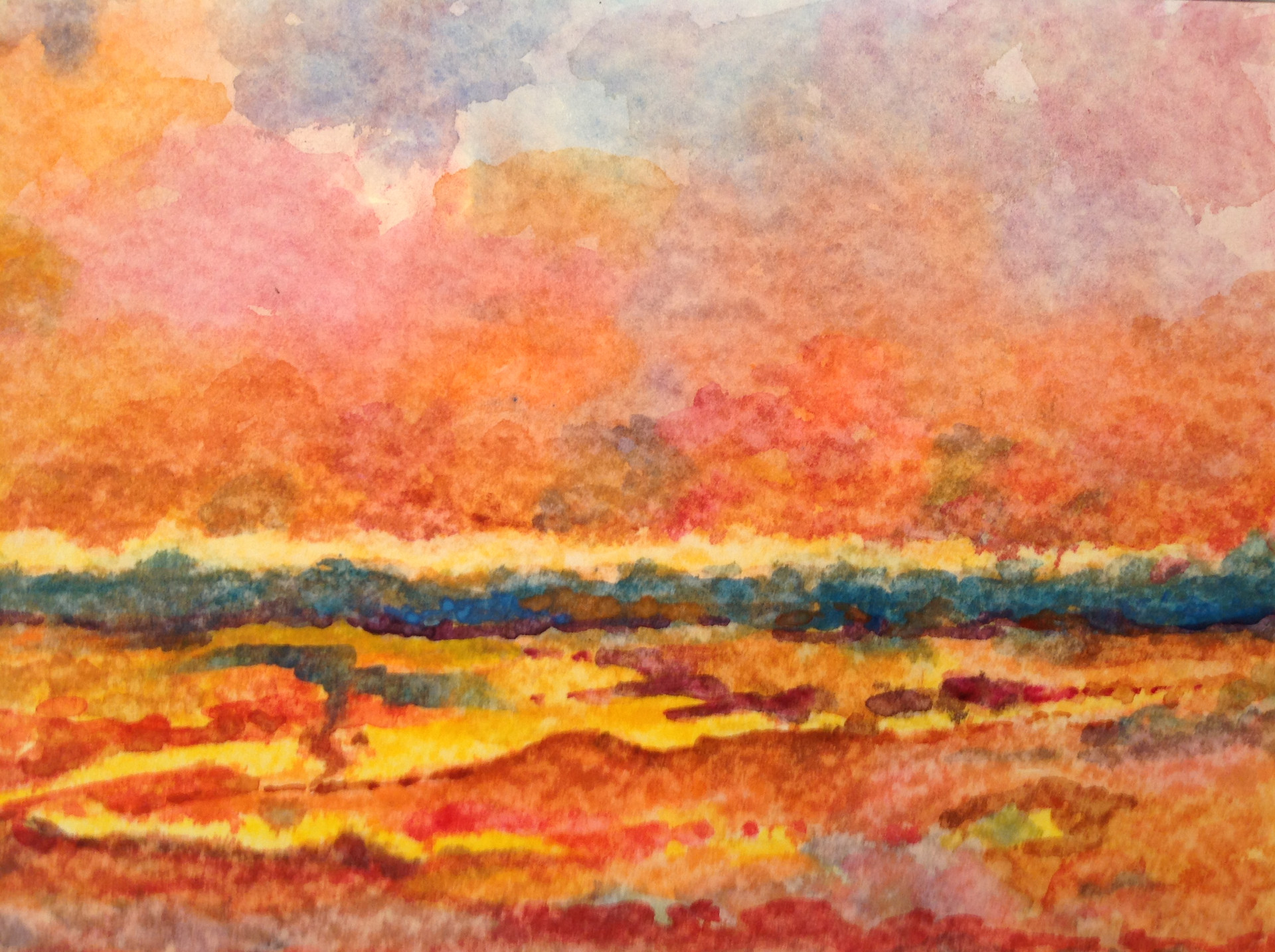 Imagined Landscape with Lava
