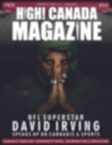 David Irving Cover - High! Canada Magazi