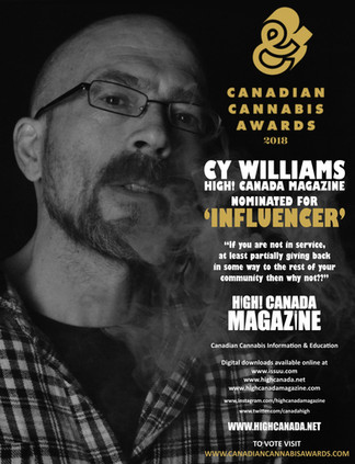 High! Canada Magazine Publisher  Cy Williams Nominated for  Two 2018 Lift & Co  Canadian Cannabi