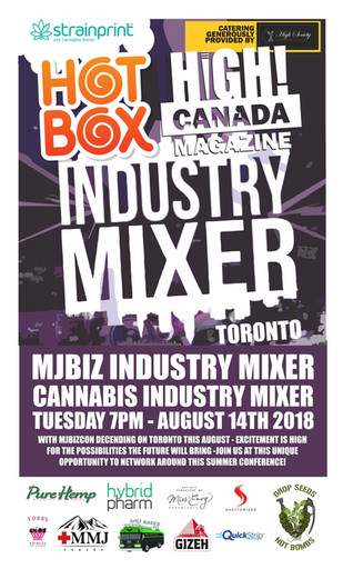 The High! Canada Magazine Industry Mixer is back for MJBizcon this Tuesday August 14th