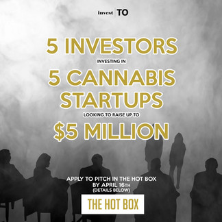 Toronto's next 'Shark Tank Style' Cannabis Event Offers Opportunity to Cannabis Startups