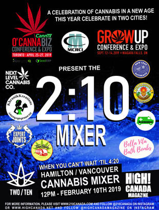 The 210 Mixer Hits Hamilton and Vancouver on February 10th, 2019