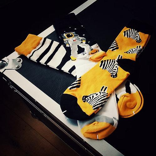 Moon Zebra socks (set of 3)