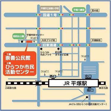 活動場所のアクセスマップ