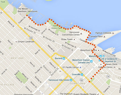 How to get to the waterfront, from the St Clair Hotel-Hostel.