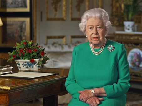 Queen Elizabeth II give a United Kingdom and Worldwide message during Coronavirus pandemic.