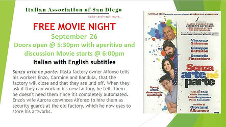 Movie night Senza arte ne parte website.