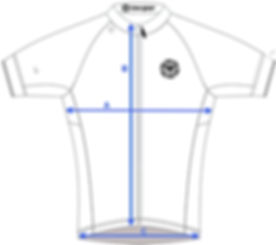 how to measure a cycling jersey for size