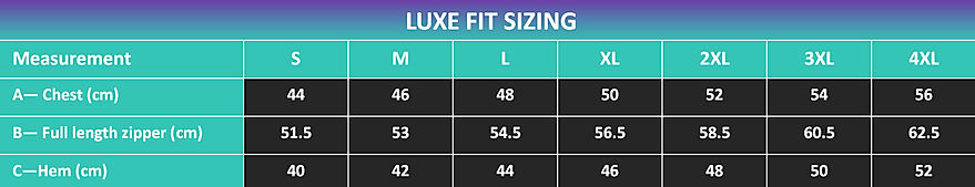 RAW Gear Luxe Fit sizing chart.jpg