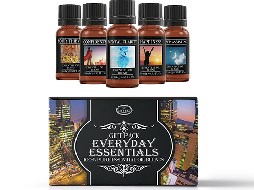 Everyday Essentials - Essential Oil Blend Gift Pack | Mystix London