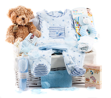 Wickers Just For Baby Deluxe Hamper - BOY