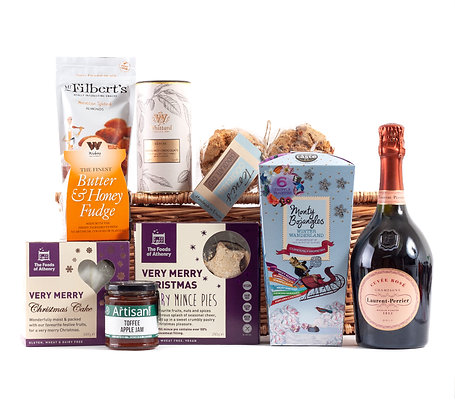 Just Because It's Christmas Hamper - Laurent Perrier Rose NV Champagne 75cl
