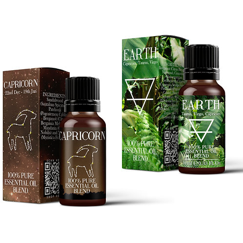 Capricorn & Earth Element Essential Oil Blend Twin Pack (2x10ml)