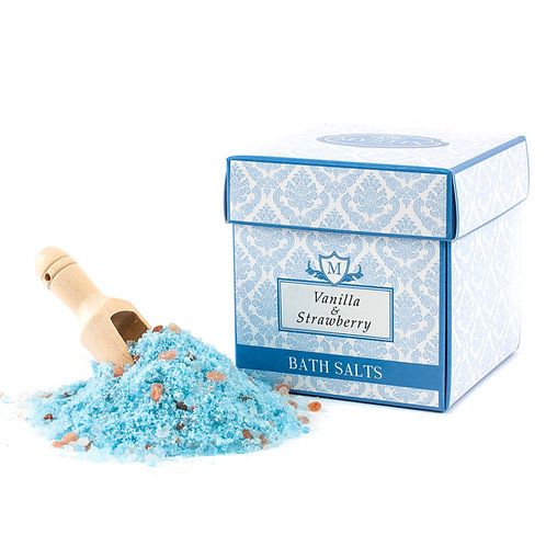 Vanilla & Strawberry Scented Oil Bath Salt | Mystix Bath Salts