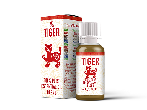 Tiger  - Chinese Zodiac Essential Oil Blend | Mystix London