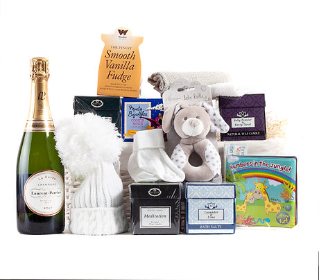 Wickers Mother & Baby Deluxe Hamper - NEUTRAL