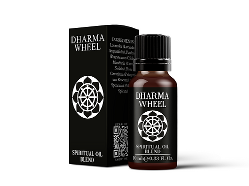 Dharma Wheel | Spiritual Oil Blend | Mystix London