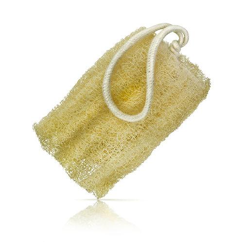 organic loofah on a rope