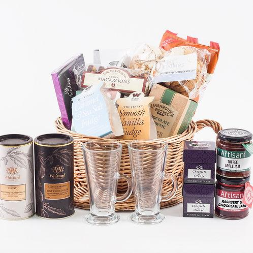 Hot Chocolate Hamper Premium - Salted Caramel & White Chocolate