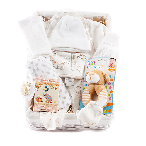 Wickers Just For Baby Premium Hamper- NEUTRAL
