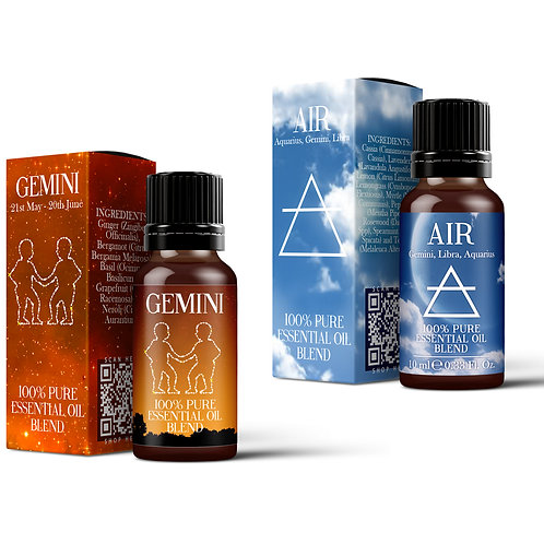 Gemini & Air Element Essential Oil Blend Twin Pack (2x10ml)