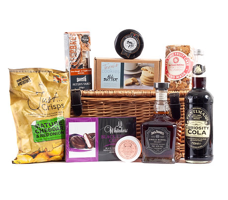 Whiskey Hamper Deluxe with Jack Daniels Whiskey