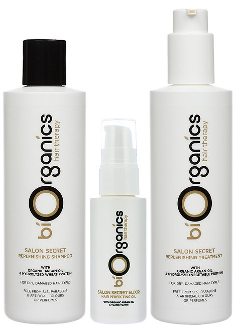 Shampoo, Treatment & Elixir Set - 250ml