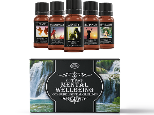 Mental Wellbeing - Essential Oil Blend Gift Pack | Mystix London