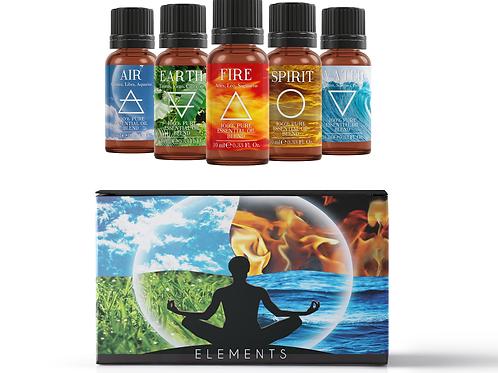5 Elements - Essential Oil Blend Gift Pack   Mystix London