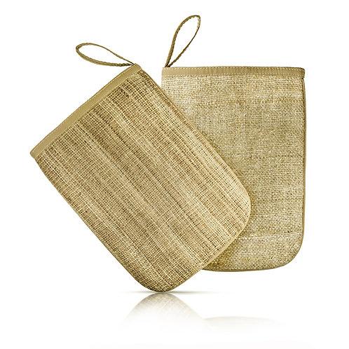 wild crafted nettle and hemp mitt
