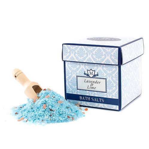 Lavender & Lime Essential Oil Bath Salt | Mystix Bath Salts