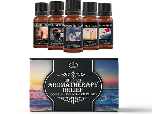 Aromatherapy Relief - Essential Oil Blend Gift Pack | Mystix London