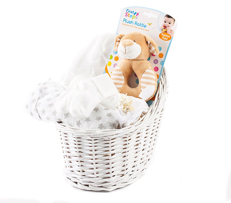 Wickers Just For Baby Hamper - NEUTRAL