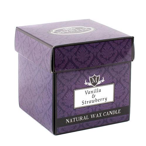 Vanilla & Strawberry Candle | Mystix Candles