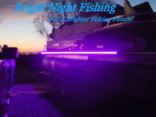 NIGHT CHASER 9 WATT BLACK LIGHT POWERFUL LED BOAT FISHING UV ULTRAVIOLET 12v 24v