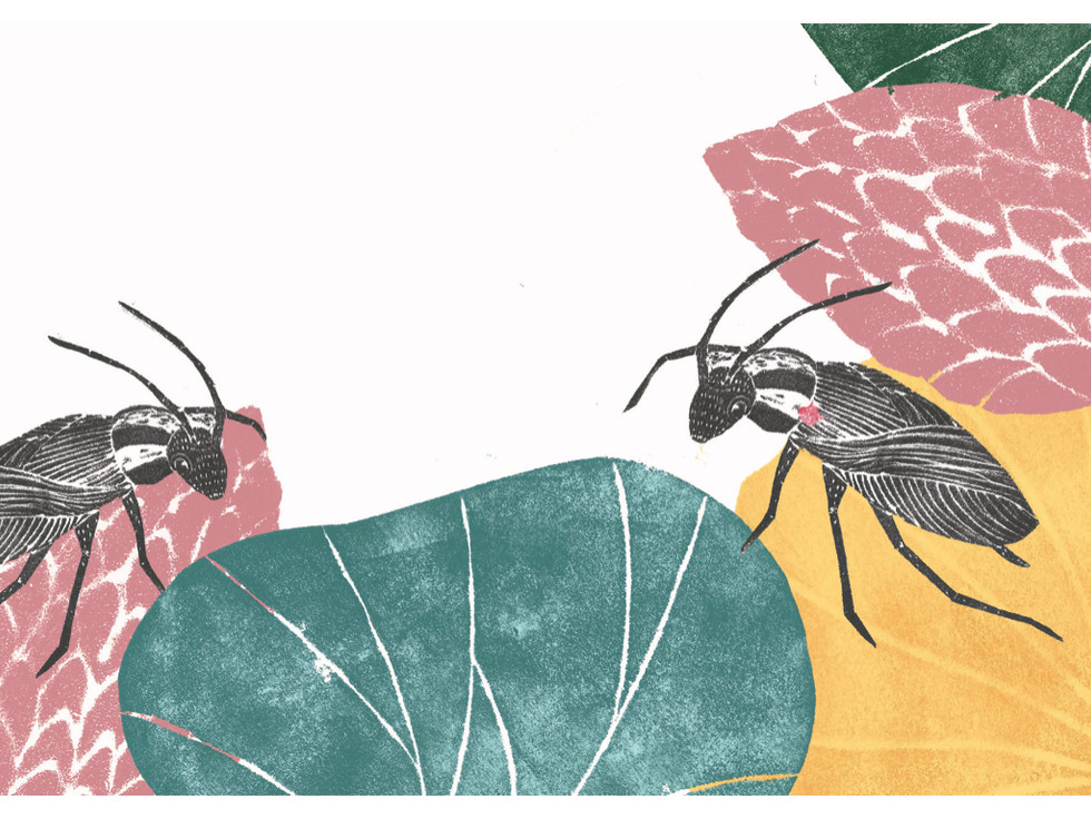 Sweet Seekers Materials: Printmaking / Stamps / collage Year: 2017