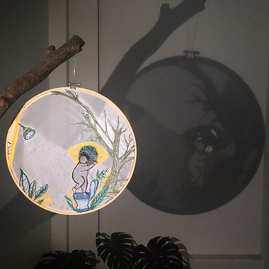 Click to view more...  Materials: Embroidery, silk, Fabrics Year: 2017 Size:  Flexible size artworks (Shadow) Embroidery: 30cm in diameter
