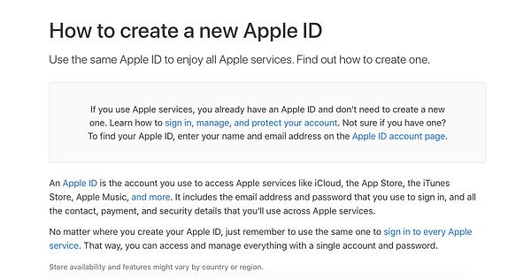 Apple ID Setup