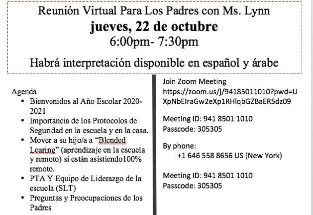 Principal Meeting Spanish
