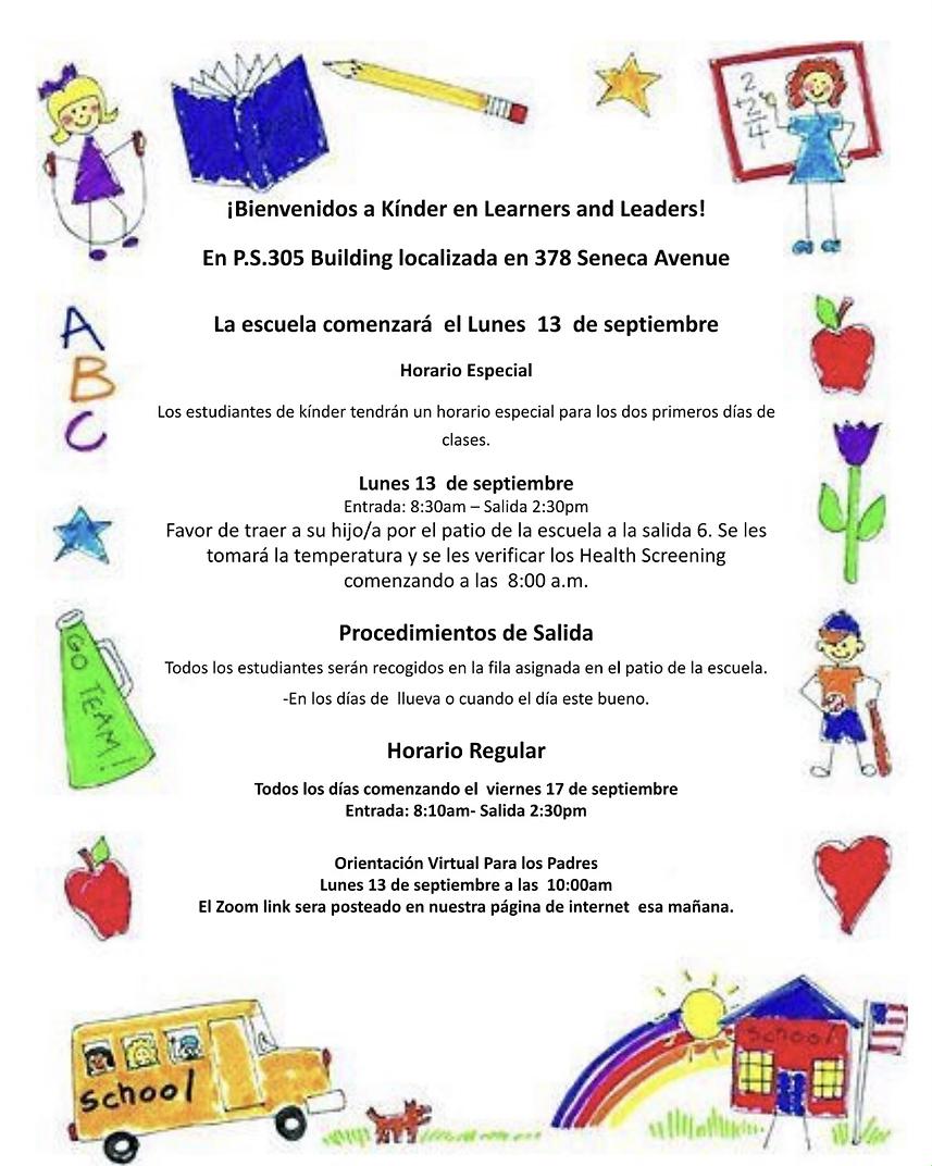 Kindergarten First Week Schedule Spanish.heic