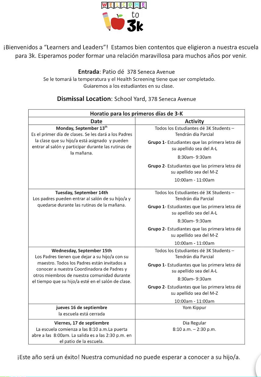 3k first week schedule Spanish.heic