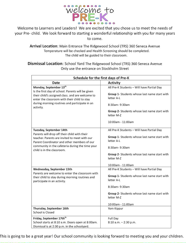 Pre-K First Week Schedule.heic