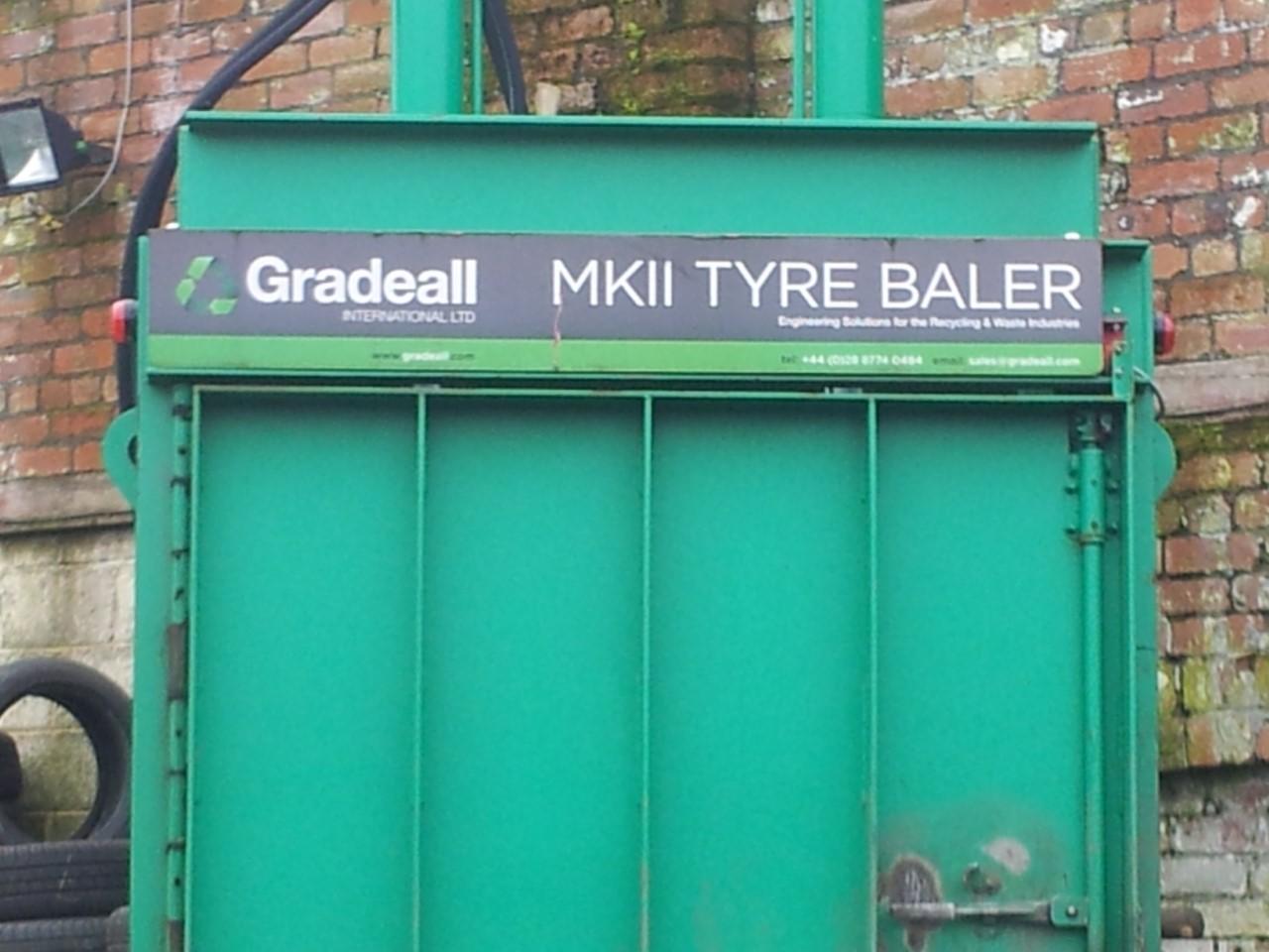 licenced tyres baler