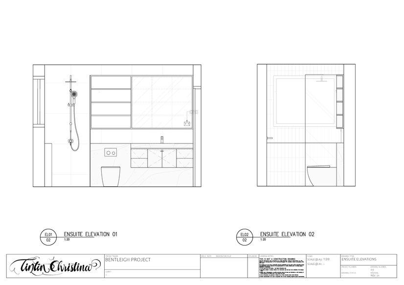 Ensuite Elevation (Design Visualisation)
