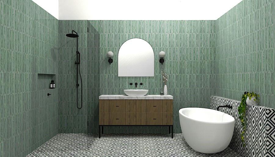 CANTERBURY BATHROOM 3D RENDER