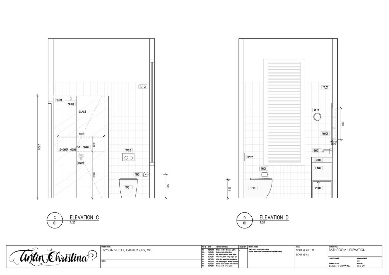 CANTERBURY GUEST BATHROOM ELEVATIONS